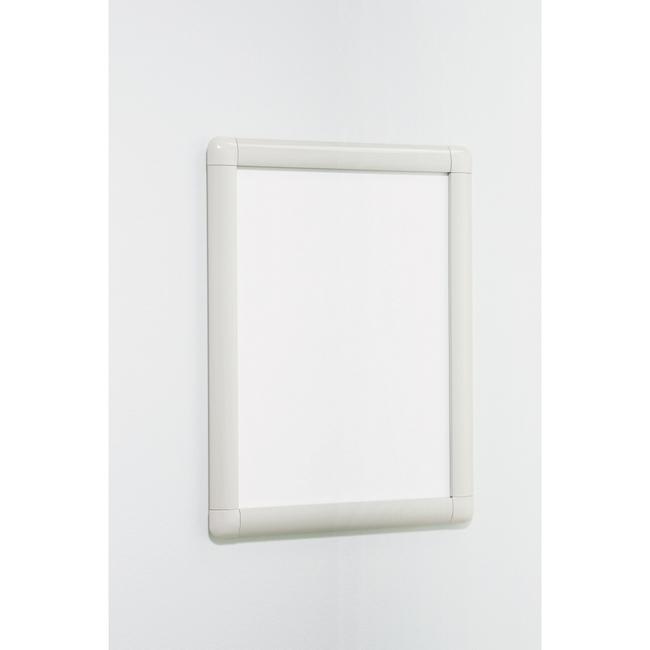 【送料無料♪】ポスターパネル338 A1 屋内用 4辺開きタテヨコ兼用 カラー:ホワイト (ポスターフレーム/A1サイズ/前面開閉式(A1))