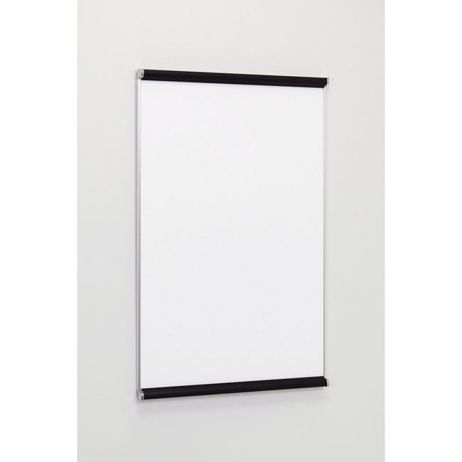 【送料無料♪】ポスターパネル3523 A1 屋内用 2辺開きタテ カラー:ブラック/サイドステン (ポスターフレーム/A1サイズ/前面開閉式(A1))
