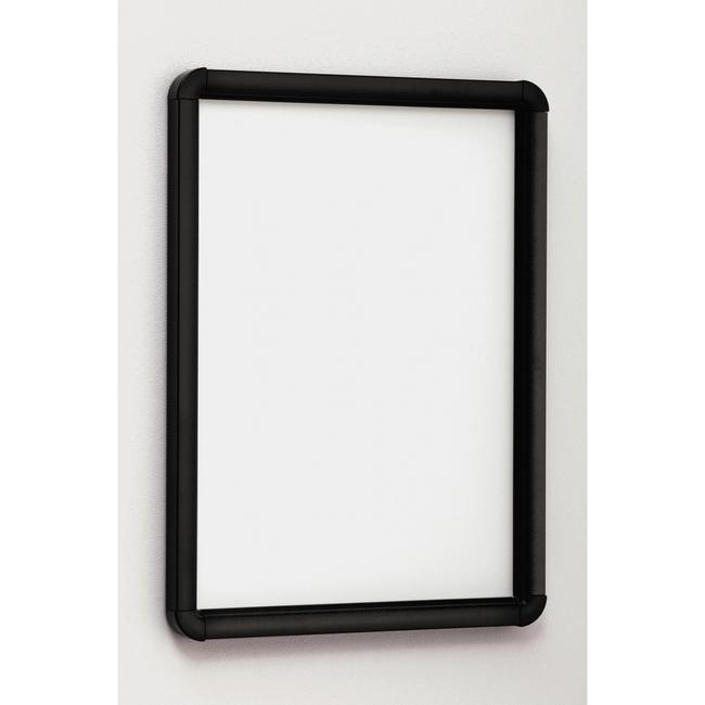 ポスターパネル333 B2 屋内用 4辺開きタテヨコ兼用 カラー:ブラック (ポスターフレーム/B2サイズ/前面開閉式(B2))