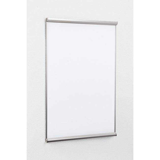ポスターパネル3523 B2 屋内用 2辺開きタテ カラー:ステン (ポスターフレーム/B2サイズ/前面開閉式(B2))