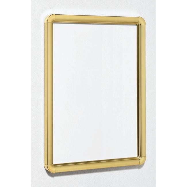 【送料無料♪】ポスターパネル333 A2 屋内用 4辺開きタテヨコ兼用 カラー:ゴールド (ポスターフレーム/A2サイズ/前面開閉式(A2))