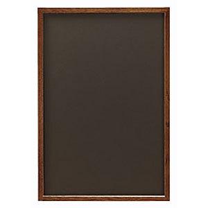 オークブラウンL ブラック (チョークタイプ)(販促POP/メッセージボード/黒板)