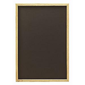 オークナチュラルL ブラック (チョークタイプ)(販促POP/メッセージボード/黒板)