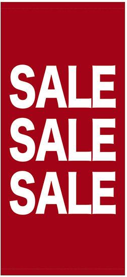 フルカラー店頭幕(懸垂幕) SALE SALE SALE 素材:厚手トロマット (販促POP/店外・店頭ポップ)