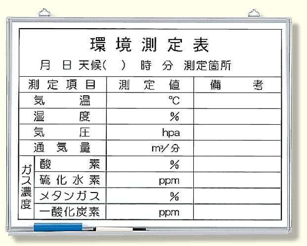 【送料無料♪】環境測定ボード (安全用品・標識/安全標識/管理表示板)