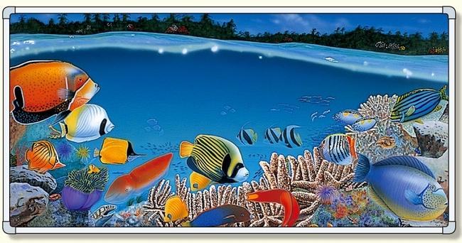 【送料無料♪】イラストパネル 熱帯魚 1740×3480mm (安全用品・標識/安全標識/環境美化標識)