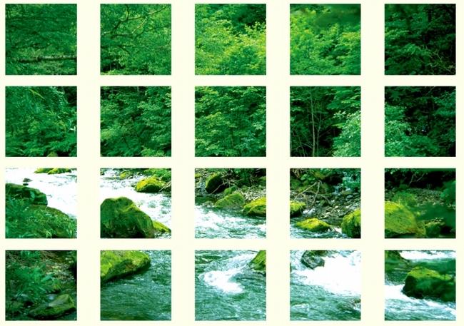 【送料無料♪】マルチシート 渓流 (安全用品・標識/安全標識/環境美化標識)