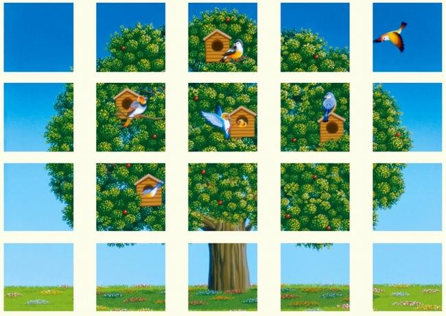 【送料無料♪】マルチシート 鳥と木 (安全用品・標識/安全標識/環境美化標識)