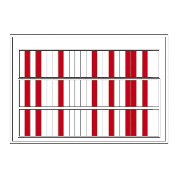 【送料無料♪】名札ケース 回転ネーム表示盤 仕様:75人用・部署札 (青/青) 6枚付 (安全用品・標識/安全標識/ずい道(トンネル)用標識)