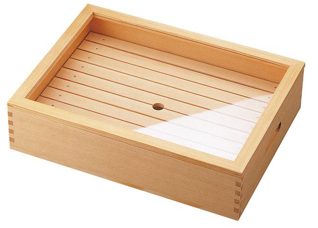ネタ箱 (大) 身 (目皿付) のみ [W35623](調理道具/まな板・抜き板・ネタケース)