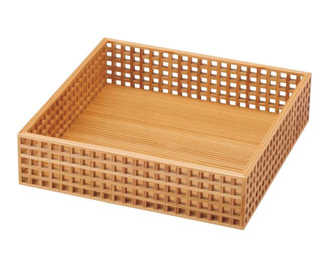 細目 (ささめ) 格子盛器 正角 [W31156](料理箱・皿)