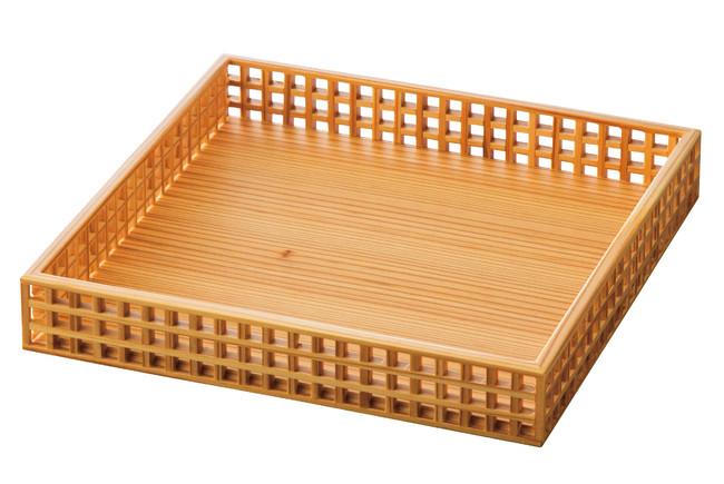 細目(ささめ)格子料理膳 (W32211) (料理箱・皿/料理箱)