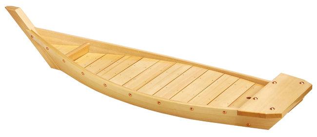 白木川舟 (H-105) [W41107](盛皿・盛込・盛台/舟盛りの器・料理舟)