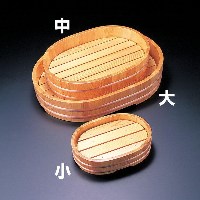 椹・小判盛器 (目皿付) 大 [W31131](盛皿・盛込・盛台/盛桶)