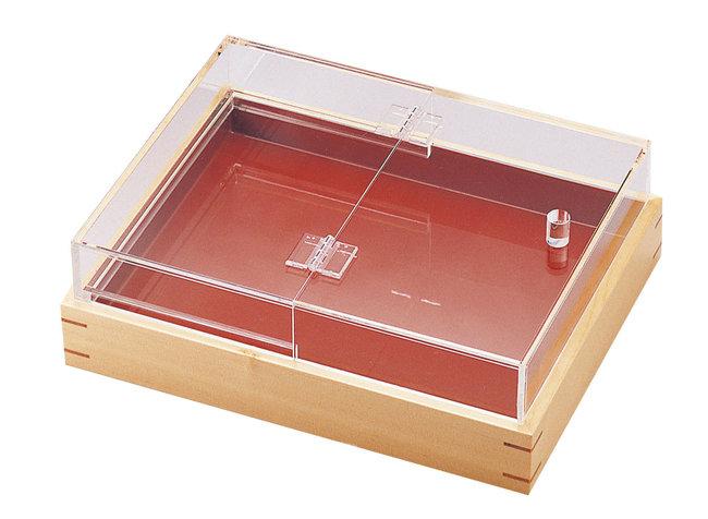 【送料無料♪】アクリル箱型フードカバー 大 [W15330](店舗什器・店舗備品/ばんじゅう・デリカバット)
