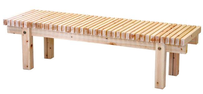 桧 濡縁 (無塗装) W150 [W51447](店舗什器・店舗備品/野立傘・縁台)