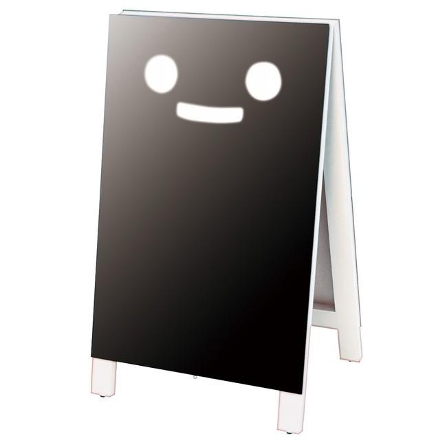 スマイルAマーカー用LL ホワイト(スタンド看板/手書き木製立て看板/マーカーペンで書けるボードタイプ)