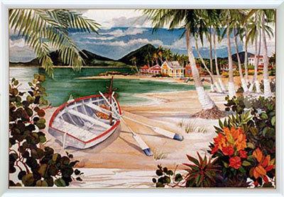 アートポスター 「アイランド ボート」 ポール・ブレント作(ポスターフレーム/画家名別アートポスター/ハ行)