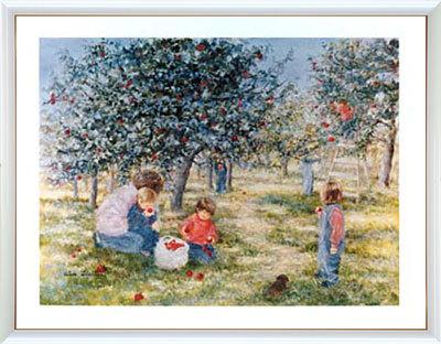 【送料無料♪】アートポスター 「リンゴの収穫」 リベイリー作(ポスターフレーム/画家名別アートポスター/ラ行)