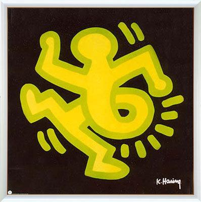 【送料無料♪】アートポスター 「ツイスティングマン」 キース・ヘーリング作(ポスターフレーム/画家名別アートポスター/カ行)