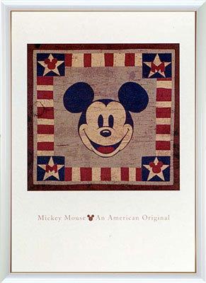 【送料無料♪】アートポスター 「ミッキーマウス アメリカン オリジナル」 ディズニーシリーズ作(ポスターフレーム/画家名別アートポスター/タ行)