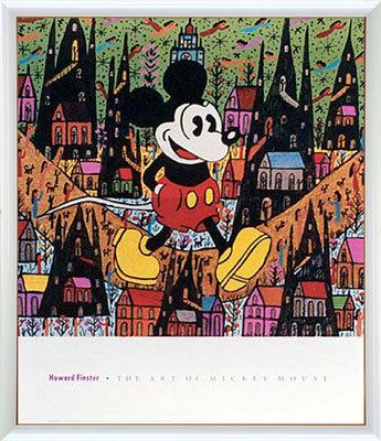 【送料無料♪】アートポスター 「オブ ミッキーマウス (フィンスター)」 ディズニーシリーズ作(ポスターフレーム/画家名別アートポスター/タ行)