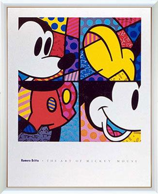【送料無料♪】アートポスター 「オブ ミッキーマウス (ブリット)」 ディズニーシリーズ作(ポスターフレーム/画家名別アートポスター/タ行)