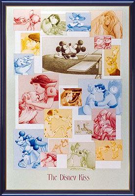 【送料無料♪】アートポスター 「ザ ディズニー キス」 ディズニーシリーズ作(ポスターフレーム/画家名別アートポスター/タ行)