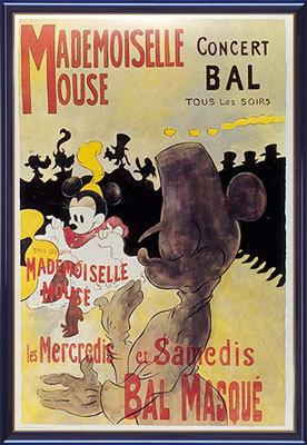 【送料無料♪】アートポスター 「マドモアゼル マウス」 ディズニーシリーズ作(ポスターフレーム/画家名別アートポスター/タ行)