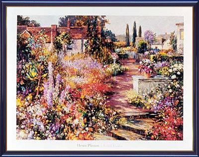 【送料無料♪】アートポスター 「ブリティッシュ ガーデン」 H・プリッソン作(ポスターフレーム/画家名別アートポスター/ハ行)