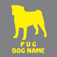 DOGステッカー ドッグシルエット切り抜きシール 犬 ステッカー シール TYPE1 103犬種 ペットネーム追加無料犬 犬ステッカー ペット ペットステッカー ステッカー オリジナルグッズ