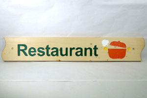 木彫り彫刻 木製看板 Restaurant