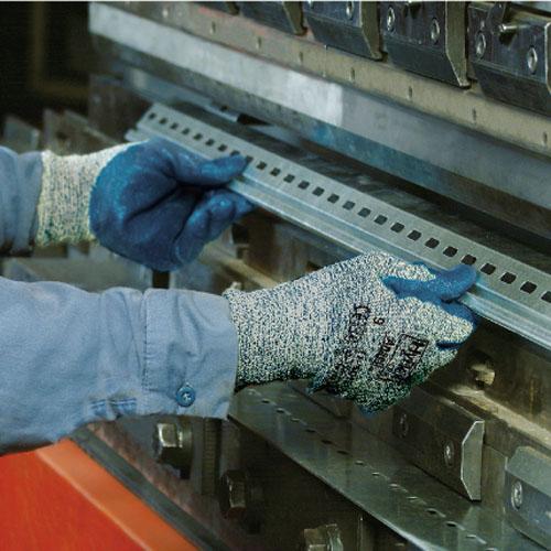 作業用手袋 シモン アンセル一般作業用保護手袋 インターセプトテクノロジー繊維 発砲ニトリルゴム 切創防止 12双入り 11-501ハイフレックスCRプラス