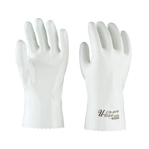 作業用手袋 シモン 特殊作業用手袋 ポリウレタン(白) ユーローブロゴ入り 一般耐溶剤性 耐油性 耐摩耗性 軽量 柔軟性 耐候性 耐薬品 10双入り ユーローブ3500