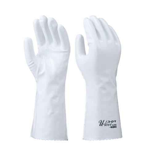 作業用手袋 シモン 特殊作業用手袋 ポリウレタン(白) 袖長 ユーローブロゴ入り 一般耐溶剤性 耐油性 耐摩耗性 軽量 柔軟性 耐候性 耐薬品 10双入り ユーローブ3550