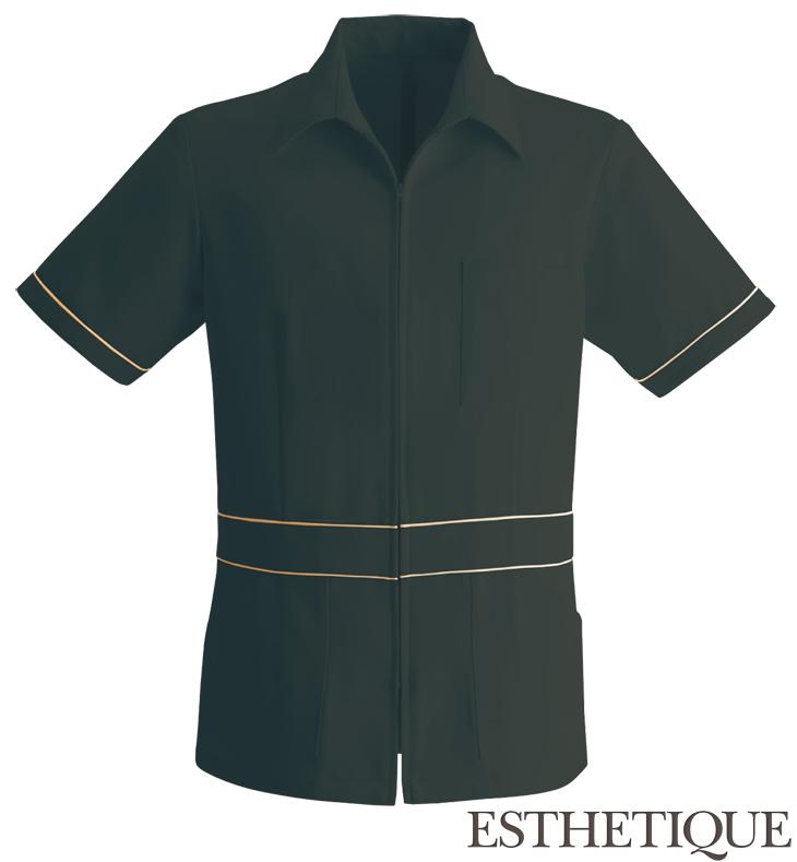 上質な雰囲気を醸し出すパイピングメンズジャケット(ブラック)