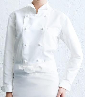 コックコート(長袖)男女兼用、抗菌・防臭