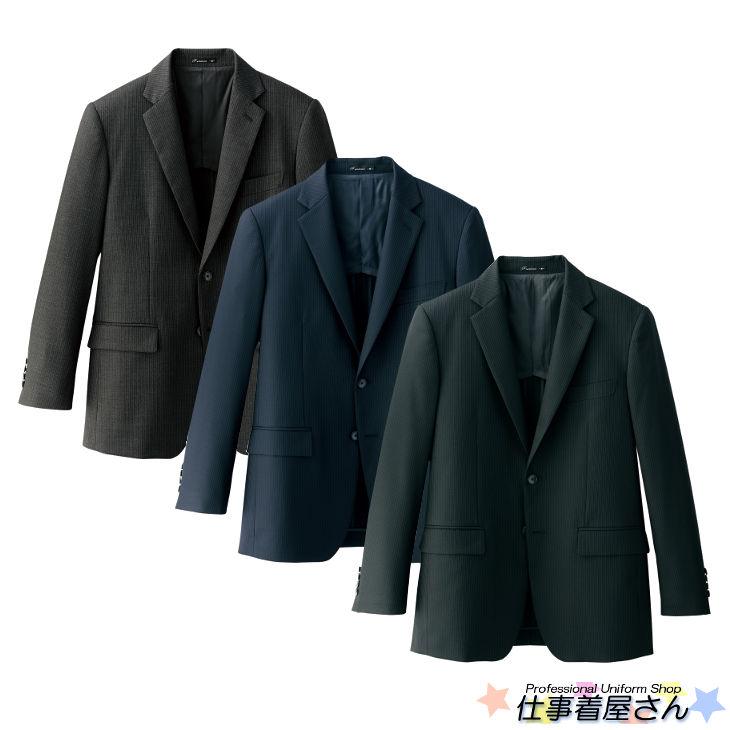 上質なウールを使ったメンズストレッチジャケット(ストライプ)【サービス】【FACE MIX】【企業作業服・作業着】としてお勧め