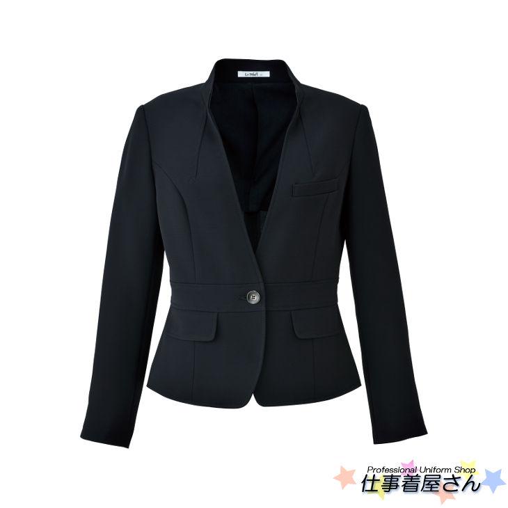 涼しく軽やかで快適なブラックジャケット【BONMAX】【企業オフィス制服・事務服】【BONOFFICE】【大きいサイズ】【17号~19号】lj0743