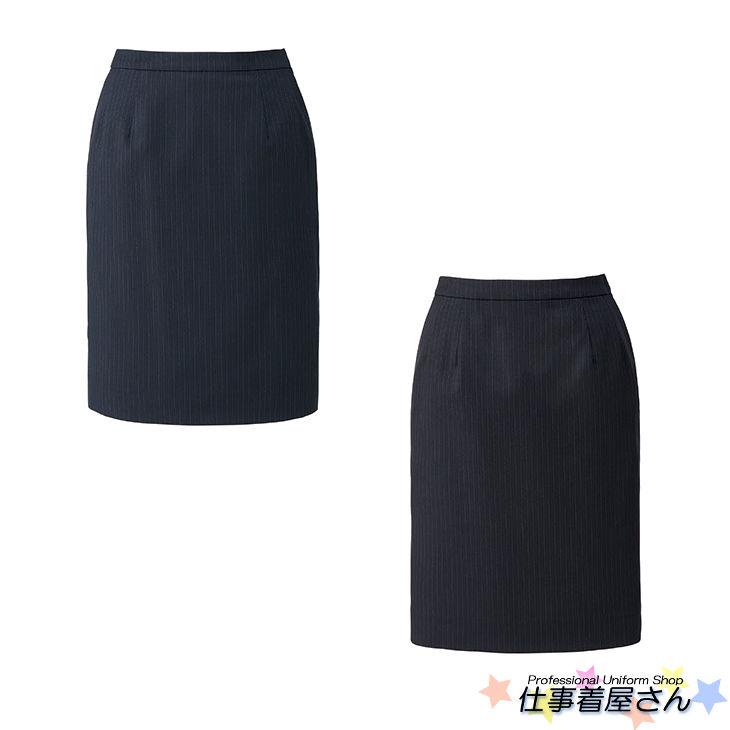 お手入れしやすいストライプタイトスカート(ソロテックスストライプ)【BONMAX】【企業オフィス制服・事務服】【BONOFFICE】【大きいサイズ】【17号~19号】ls2199