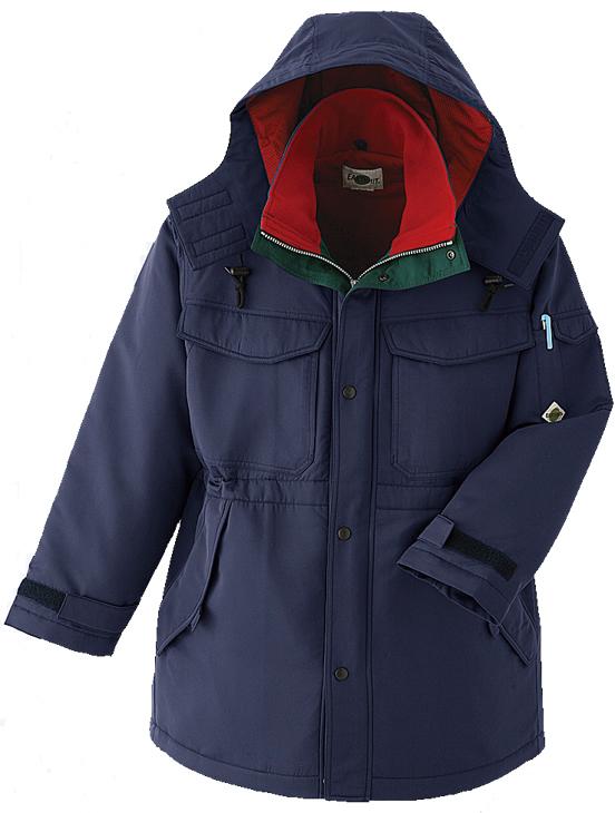 日本製生地の寒冷地仕様コート(3色展開ネイビー/スミグレー/グリーン)撥水加工
