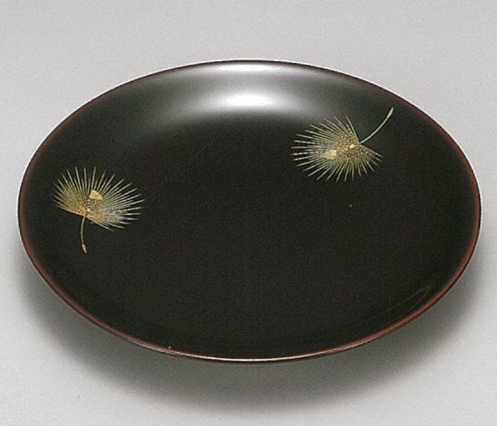 【越前漆器】 溜 飛花 端反銘々皿5枚セット/漆器・おもてなし・御祝・ご祝儀・ギフト・贈り物・お茶会・御祝返し・御礼・銘々皿