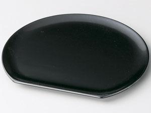 【越前漆器】 半月銘々皿 黒 5枚セット/漆器・おもてなし・御祝・ご祝儀・ギフト・贈り物・お茶会・御祝返し・御礼・銘々皿