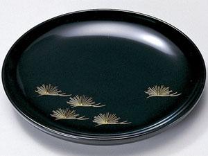 【越前漆器】 沈金松 銘々皿 黒 5枚セット/漆器・おもてなし・御祝・ご祝儀・ギフト・贈り物・お茶会・御祝返し・御礼・銘々皿