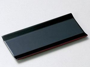 【越前漆器】 広幅 おしぼり皿 黒 5枚セット/漆器・おもてなし・来客用・贈り物・ギフト・お返し・御礼・御祝