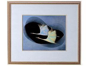 【越前漆器】 二羽鶴 パネル/漆器・プレゼント・贈り物・ギフト・御祝・御礼・退職・外国・海外へのお土産