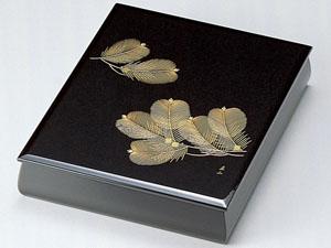 【越前漆器】沈金松 文庫 A4サイズ 黒/文書箱・退職・勇退・手紙入れ・漆・文・箱・BOX・小物入れ・漆器・御祝・贈り物
