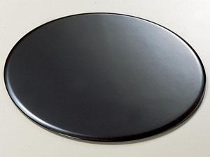 【越前漆器】丸蛤板 黒/漆器・おもてなし・茶道具・お茶会