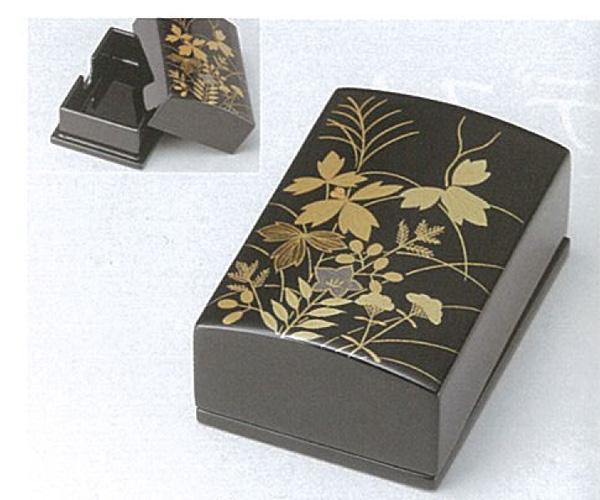 【越前漆器】 秋草 名刺箱(小)黒 /漆器・プレゼント・贈り物・気持ち・御祝・御礼・退職・外国
