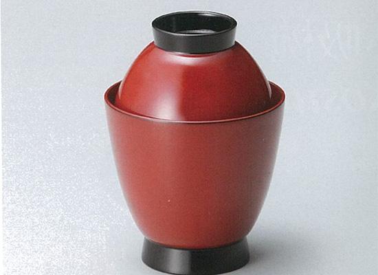 【越前漆器】吸い物椀 朱 5客セット /お吸物・お味噌汁・漆器・蓋付・セット・贈り物・来客用・お正月用品・おもてなし